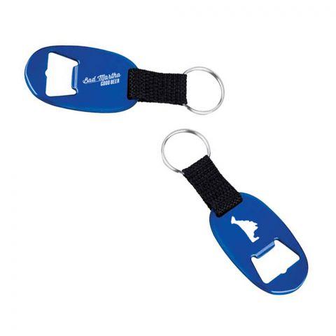 Blue Bottle Opener Keychain