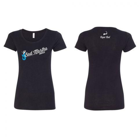 Women's BM Chest T-Shirt - Black - Cape Cod