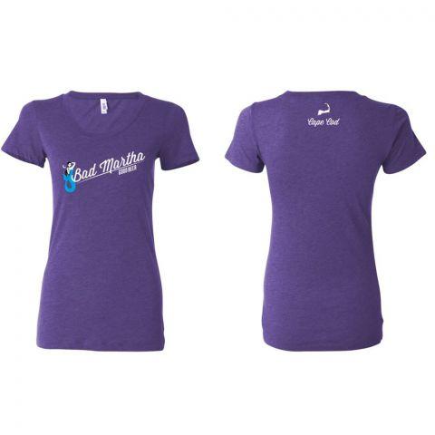 Women's BM Chest T-Shirt - Purple - Cape Cod