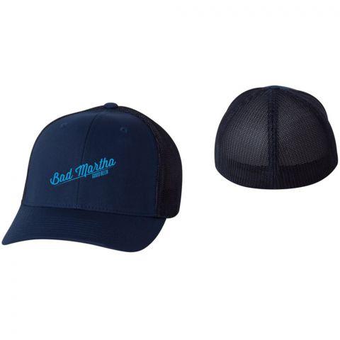 FLEXFIT TRUCKER CAP - BAD MARTHA SCRIPT