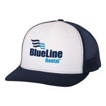 Richardson White/Navy Blue Snapback Trucker Cap