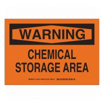 Chemical Storage Area Plastic Sign