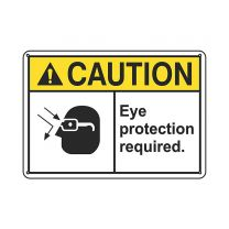 Eye Protection Required Plastic Sign