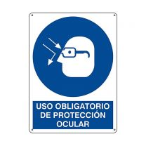 Spanish Eye Protection Required Plastic Sign