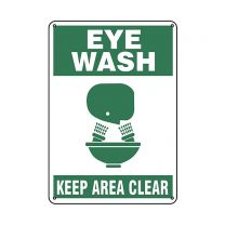 Eye Wash Plastic Sign