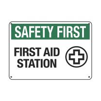 First Aid Station Plastic Sign