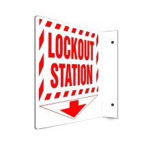 Lock-out Station Plastic Sign