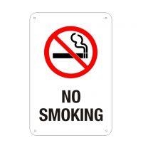 No Smoking Plastic Sign