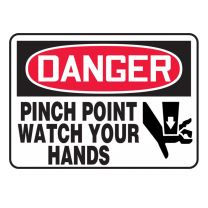 Pinch Point Plastic Sign