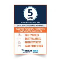 6' x 4' PPE Aluminum Yard Signs