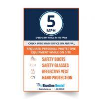3' x 2' PPE Aluminum Yard Signs