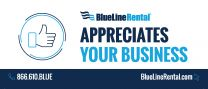 BlueLine Rental Appreciates Your Business Sticker (Pack of 25)