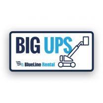 Big Ups Hard Hat Sticker (Pack of 25)