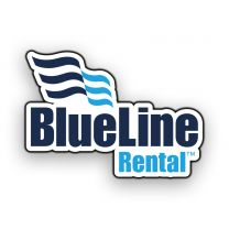 BlueLine Rental Logo Hard Hat Stickers (Pack of 25)