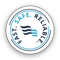Fast Safe Reliable Hard Hat Sticker (Pack of 25)