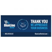 BlueLine Rental Thank You We Appreciate Your Business (Pack of 25)