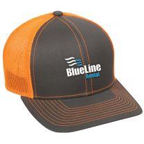 Neon Orange Mesh Back Trucker Cap