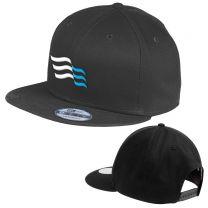 New Era Original Fit Black Flat Bill Snapback Cap
