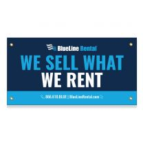 We Sell What We Rent Exterior Banner