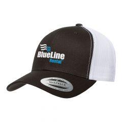 Flexfit Black/White Retro Trucker Cap
