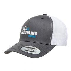 Flexfit Charcoal/White Retro Trucker Cap