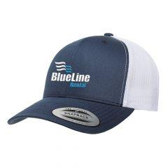 Flexfit Navy Blue/White Retro Trucker Cap