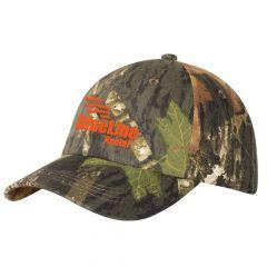 Mossy Oak Camouflage Garment-Washed Cap
